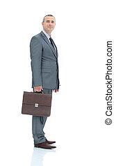 consigliere, cartella, affari, isol, legale, qualificato, completo