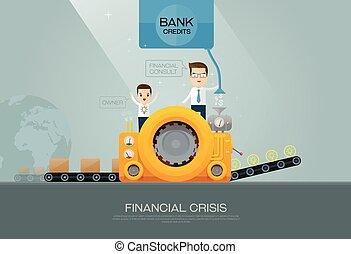 consigliere, finanziario, banca, fabbricante