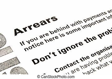 consiglio, avvertimento, arretrati, lettera