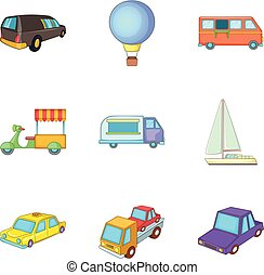 Consignment icons set, cartoon style - Consignment icons...