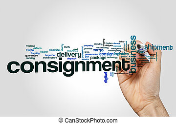 Consignment word cloud