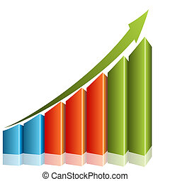 Consistent Growth Chart - An image of a 3d consistent growth...