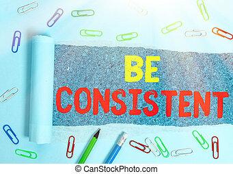 consistent., unalterable, vara, begrepp, likformig, ord, ...