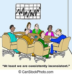 Consistently Inconsistent - Business cartoon of business ...