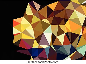 consisting background of triangles warm texture