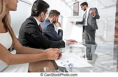 consoci, affari, presenta, progetto, direttore, nuovo