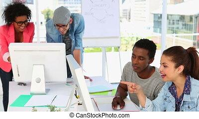 consoci, lavorativo, insieme, Creativo
