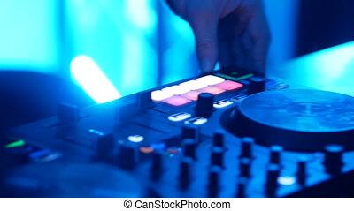 console, boîte nuit, dj, musique, mélange