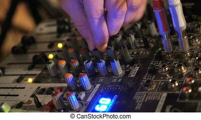 console, club, mélangeur, nuit, dj, travaux