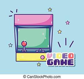 console, retro, arcade