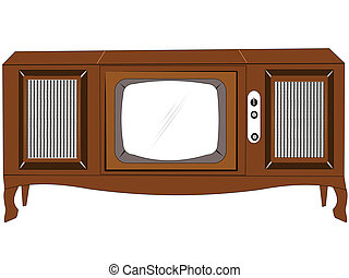 console tv from sixties - 64 console television with speaker...