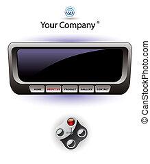 Console website template