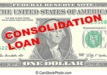 Consolidation Loan concept