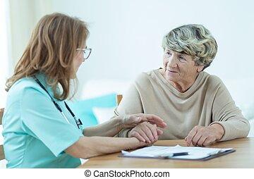 Consoling elder patient