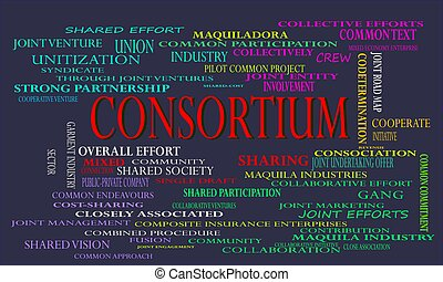 consortium industrial business word cloud vector ...
