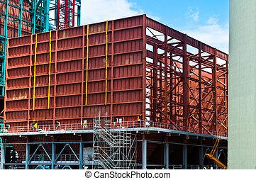 consruction, di, un, esp, in, uno, centrale elettrica