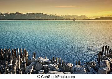 constance, 夜, 湖