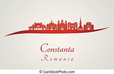 Constanta skyline in red