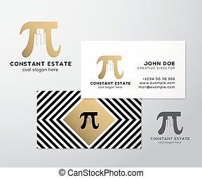 constante, or, résumé, signe, template., haut., propriété, espace, foil., négatif, pi, logo., railler, bâtiments, prime, business, fond, carte, ombres, géométrie, réaliste, vecteur