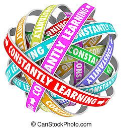 constantemente, aprendizaje, continuo, crecimiento,...