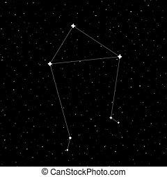 constelación, diseño, libra