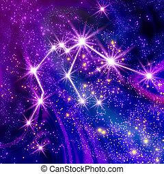Constellation Aquarius in the sky