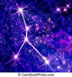 Constellation Cancer in the sky