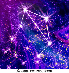 Constellation Libra in the sky
