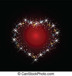 Constellation of love illustration