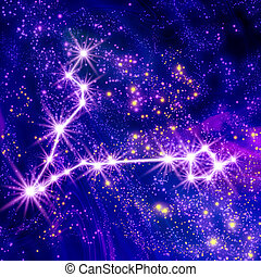 Constellation Pisces in the sky