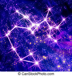 Constellation Sagittarius in the sky
