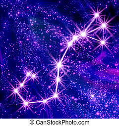 Constellation Scorpio in the sky