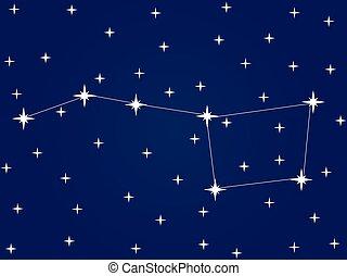 constellation, starlit, commandant, ciel, ursa