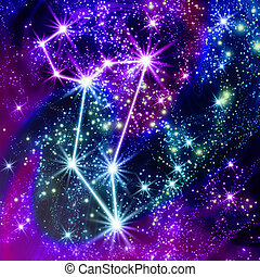 Constellation Taurus in the sky