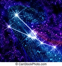 Constellation Taurus in the sky