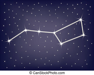 constellation Ursa Major (Big Dipper) vector illustration