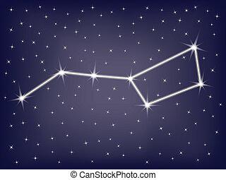 constellation Ursa Major (Big Dipper) vector illustration