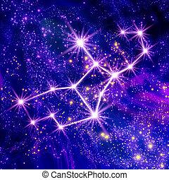 Constellation Virgo in the sky