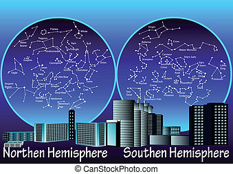 constellations of hemisphere - constellations of the...