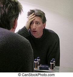 consternación, en, el, espejo