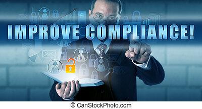 constitué, directeur, toucher, améliorer, compliance!
