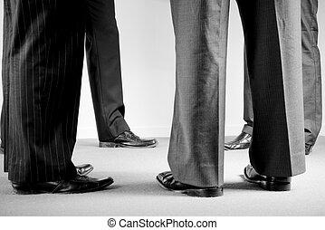 constitué, hommes, groupe, procès