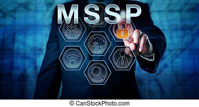 constitué, réseau, administrateur, pousser, mssp