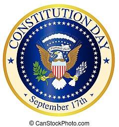 constituição, dia, selo