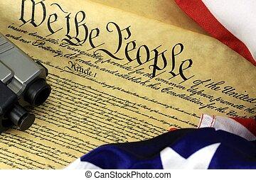 constitution américaine, à, fusil main
