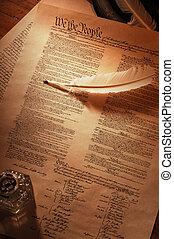 constitution américaine, entiers