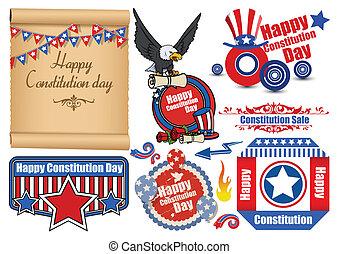 Constitution Day Elements Vectors