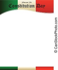 Constitution Day Header - Mexico Constitution Day with...