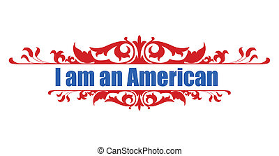 Constitution Day - I am an American - Drawing Art of I am an...