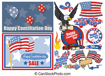 Constitution Day Patriotic Designs - Drawing Art of...